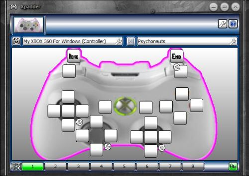 Xpadder configuration for Psychonauts