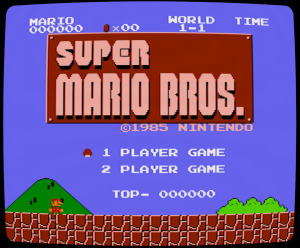 Mario Bros with the tweaked CRT emulation