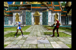 Playing Soul Calibur 2 in HDMI. Visuals are sharp and vibrant.
