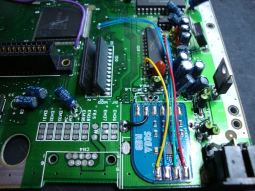 Sega Megadrive/Genesis RGB Bypass amp installation